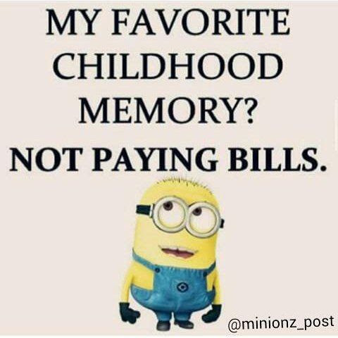 My Favorite Childhood Memory Not Paying Bills Pictures Photos And