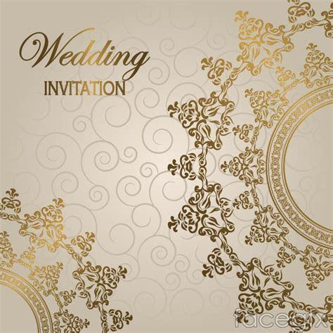 Gorgeous european wedding invitation card vector ? Over