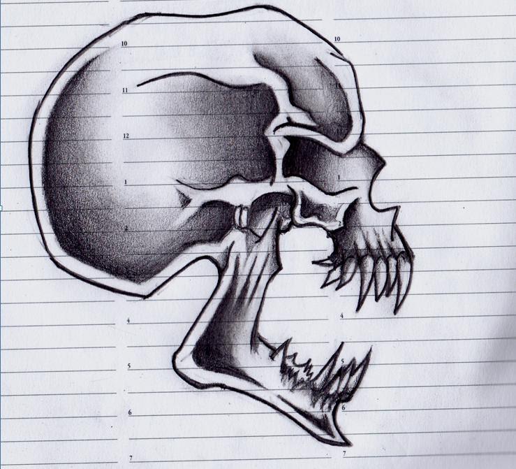 Screaming Skull Design