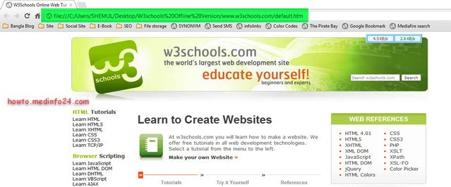 W3school offline version 2013