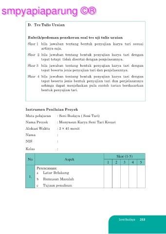 Soal Essay Seni Budaya Kls 7