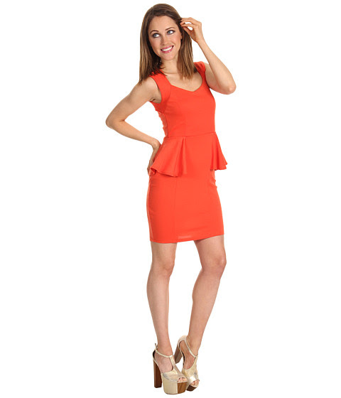 Cheap Brigitte Bailey Lindz Peplum Dress Orange