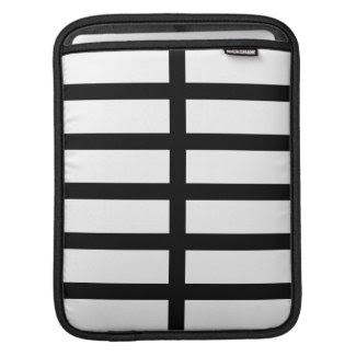 5 Bisected Black Lines Ipad Sleeve