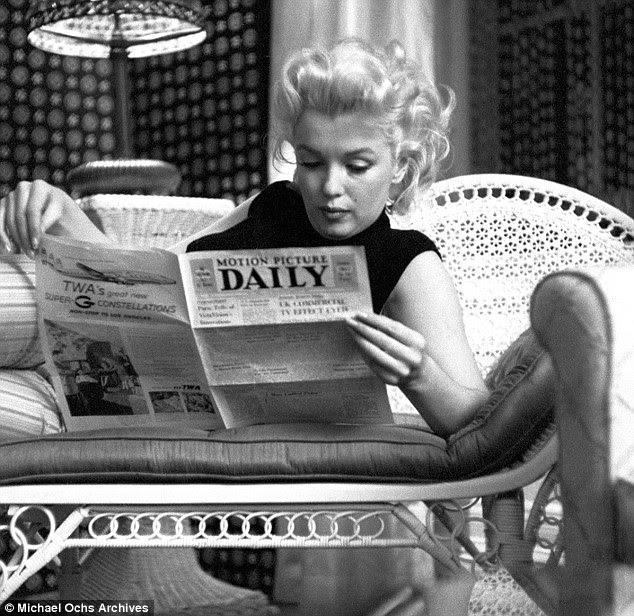 À vontade: Marilyn em um raro momento de inatividade