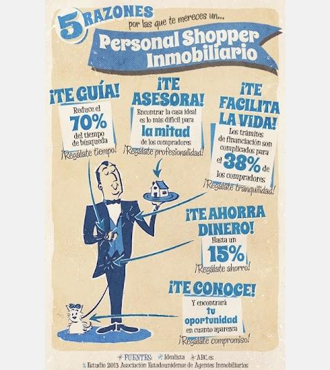5 razones para tener un Personal Shopper Inmobiliario (Infografía)