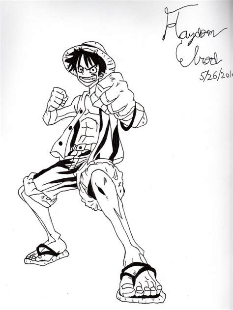 manga artist  drawings luffy