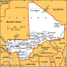 Map of Mali where French imperialistic forces are bombing the country in several regions. The war is spreading to neighboring Algeria. by Pan-African News Wire File Photos