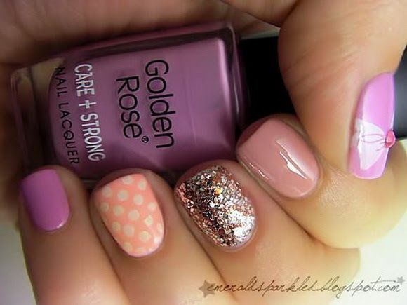 15 Cute Mismatched Nail Designs That You Are Going To Love