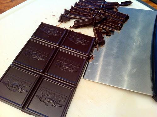 Chopping Dark Chocolate