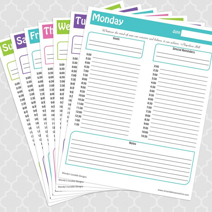 Time Management Under Control + Free Printable Daily Schedule ...