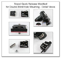PJ1033: Tripod Quick Release Modified for Double Blind Hole Mounting - Detail Views
