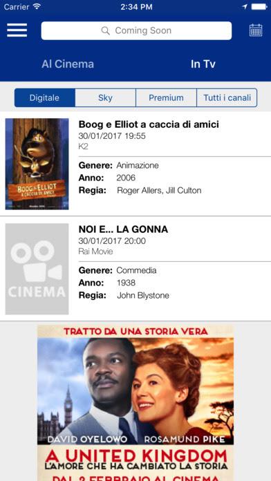 Coming Soon Cinema, l'app si aggiorna alla vers 9.0.8