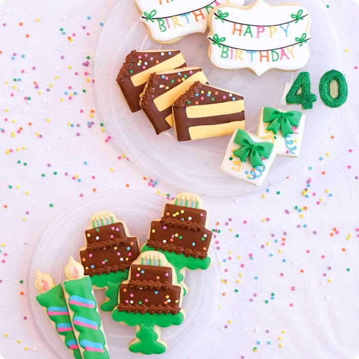 cookies from the book Decorating Cookies Party: 10 Celebratory Themes * 50 Designs
