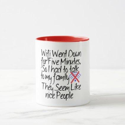 wi-fi down funny coffee mug design geek gift ideas