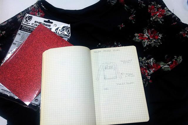 Realizzazione di un progetto: felpa con scritta