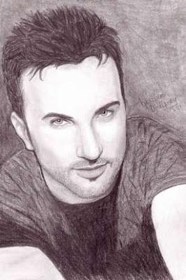Heather Mullaney's pencil rendering of Tarkan