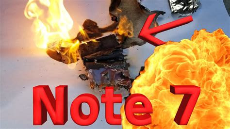 note  battery explosion caught   camera youtube