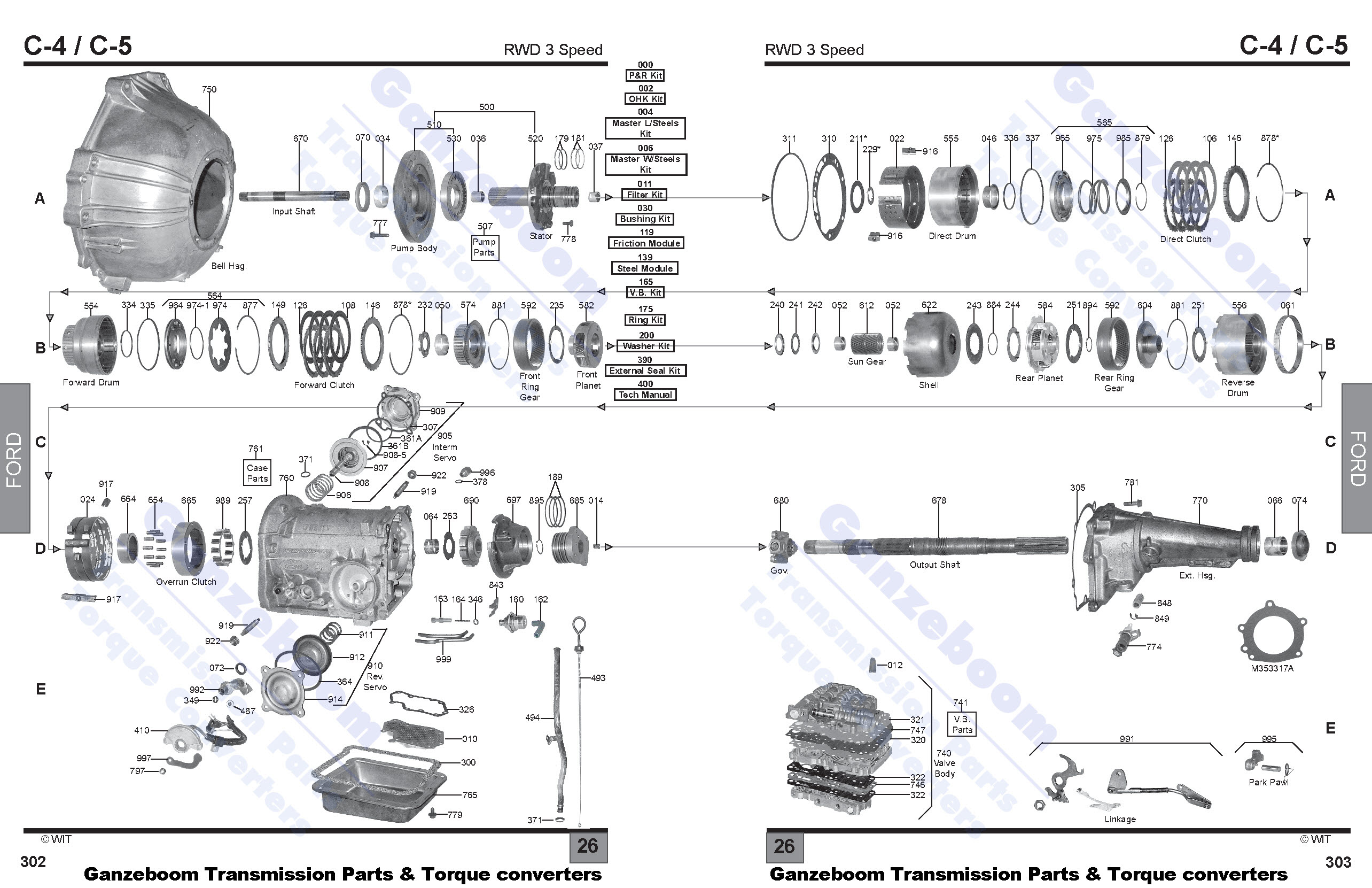 Ford C5 Transmission Wiring Diagram