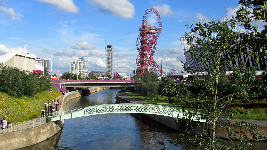 The ArcelorMittal Orbit and City Mill River