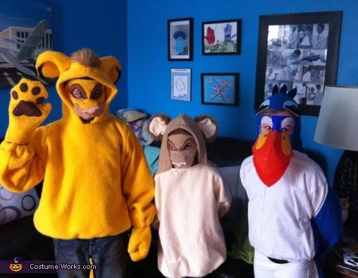 Zazu Simba And Nala Costumes