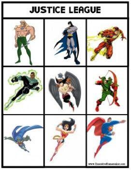 Printable superhero bingo | Holy Batman | Pinterest | Superhero ...
