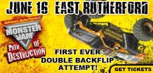 Monster Jam Path of Destruction Show in East Rutherford NJ