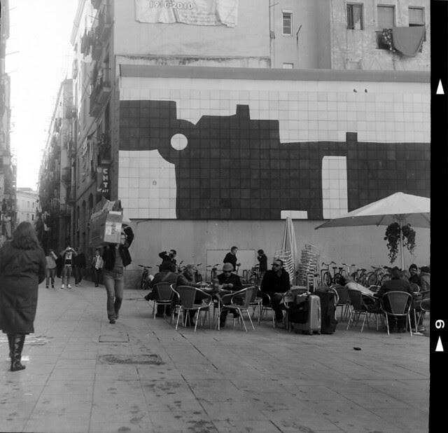 street scene with txillida