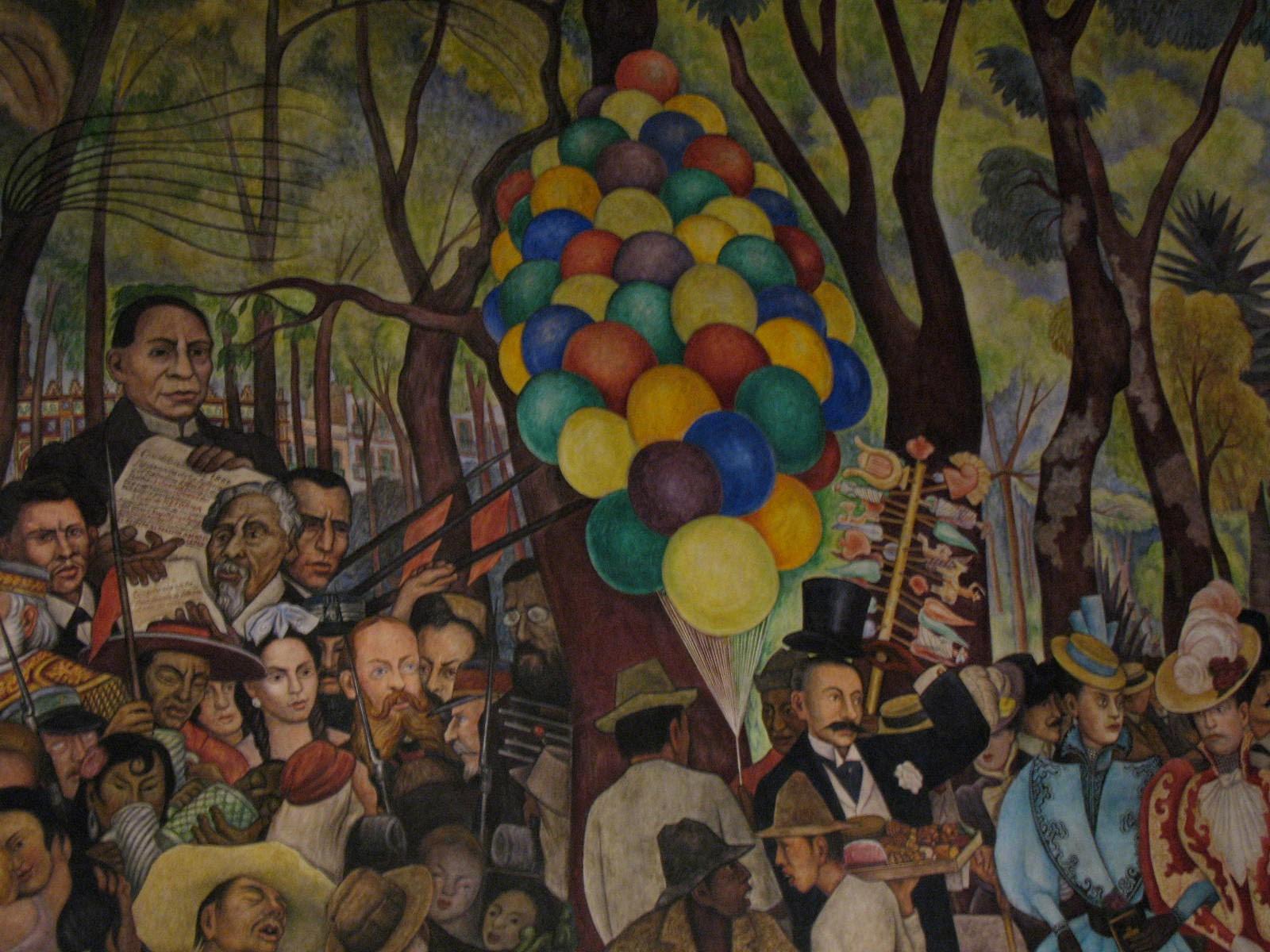 Murales De Diego Rivera Sueno De Una Tarde Dominical En La Alameda Central