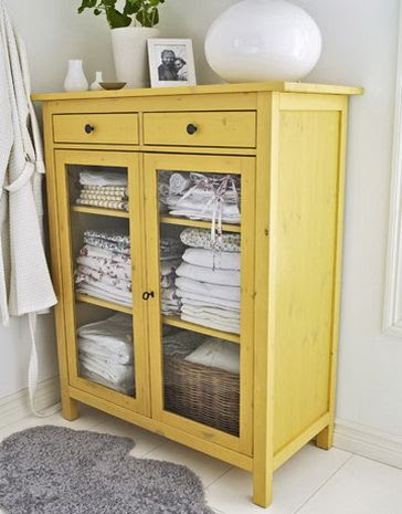 built in cabinet in bathroom | Bathroom Linen Cabinet Bathroom Linen Cabinet. cute but not to sure about the yellow.
