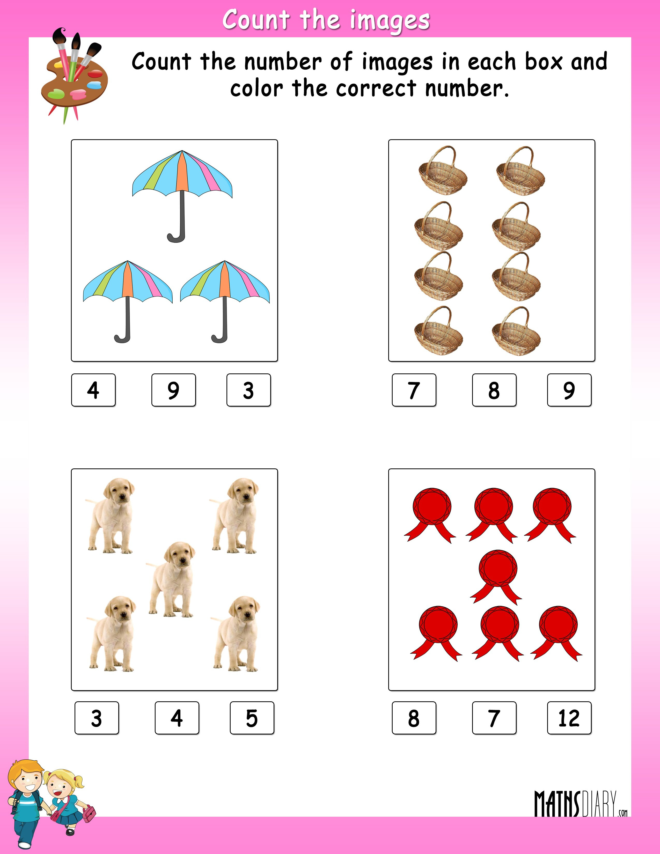 Counting – UKG Math Worksheets Page 2