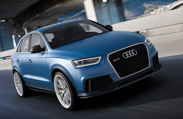 Audi RS Q3 concept - dynamic driving front three-quarter view
