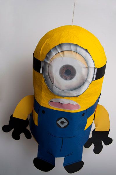 How to make a Minion pinata for a Despicable Me party.