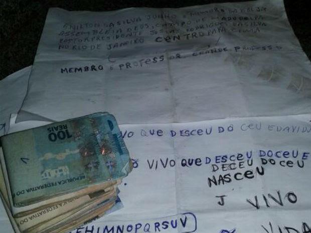 Homem encontrado no aeroporto JK após seis anos desaparecido carregava R$ 4,5 mil e bilhete escrito à mão (Foto: Polícia Militar/Divulgação)