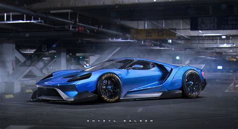 "2017 Ford GT ""Egoista"" Rendering Has Liberty Walk Widebody Kit autoevolution"