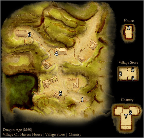 Map M60 Village Of Haven Maps Of Locations Dragon Age