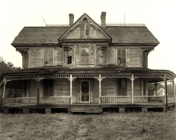"""When I first saw this house I thought it wasn't too late to save it. Then I found that the photo was taken in the early 1970s. We can only hope someone actually saved it. """"Fixer upper. Upper Fairmont,"""" Somerset County, Maryland """"Eastern Shore Series,"""" Maryland. Photo by Steve Szabo, 1940-2000"""