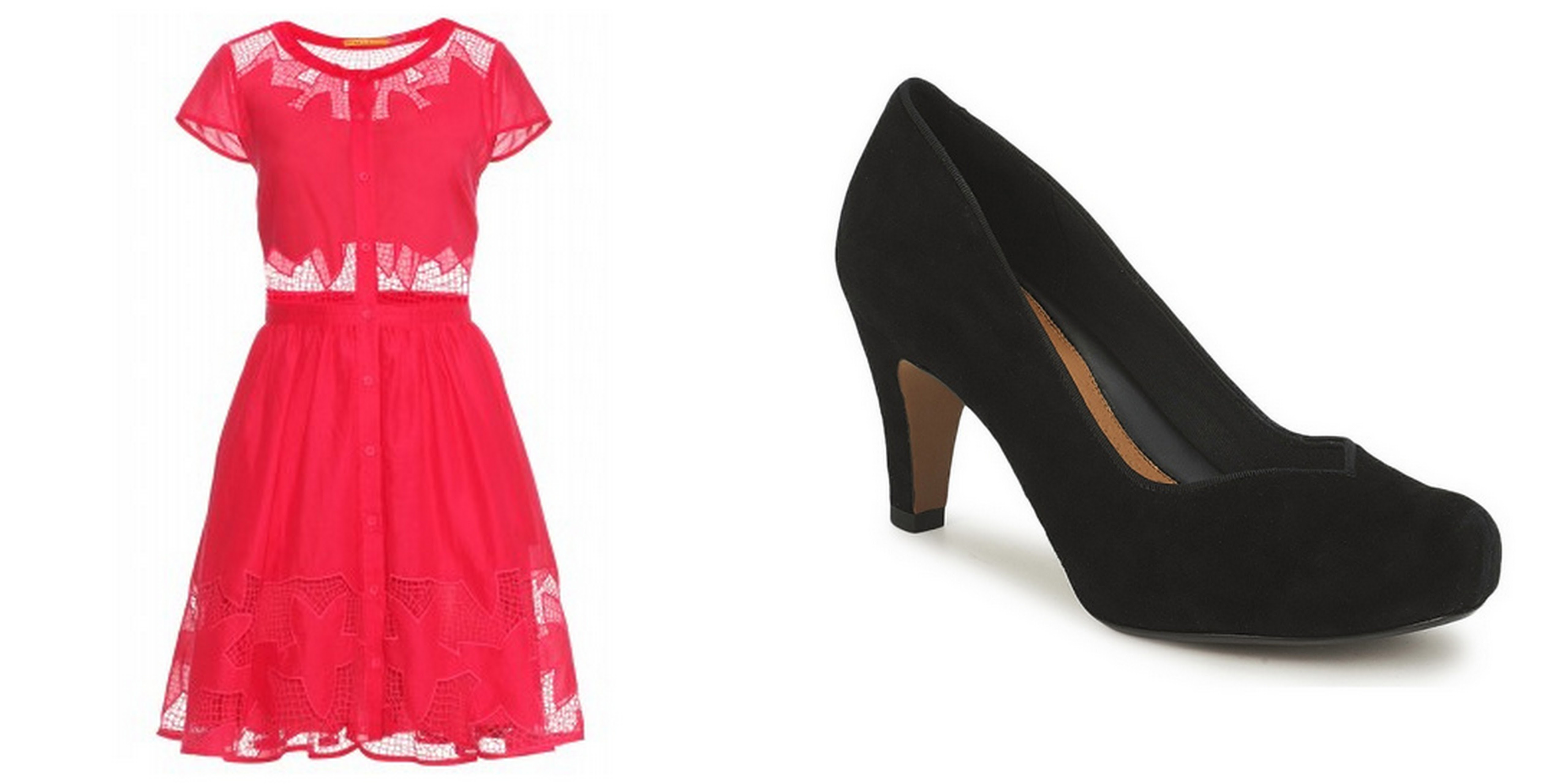 Alice and Oliva Dress and Clarks Shoes