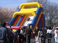 Giant puffy slide