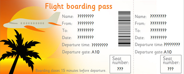 Editable Airline Tickets, EYFS, KS1 role play   Free Early Years ...