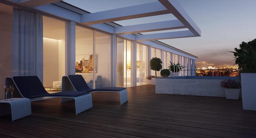 Duplex Apartment Exterior Terraceinterior Design Ideas