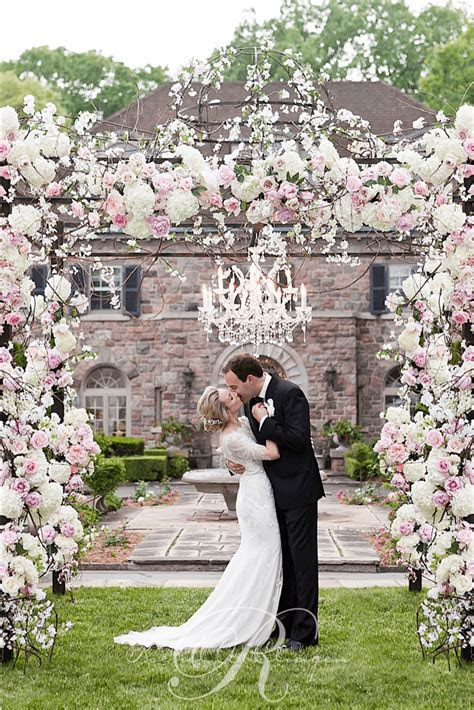 Floral chuppah Toronto wedding ceremony.   Wedding Decor