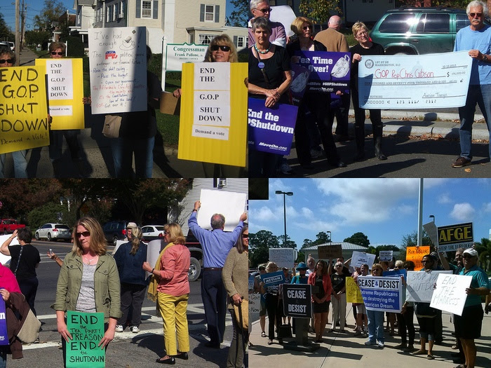 MoveOn members at demonstrations this week