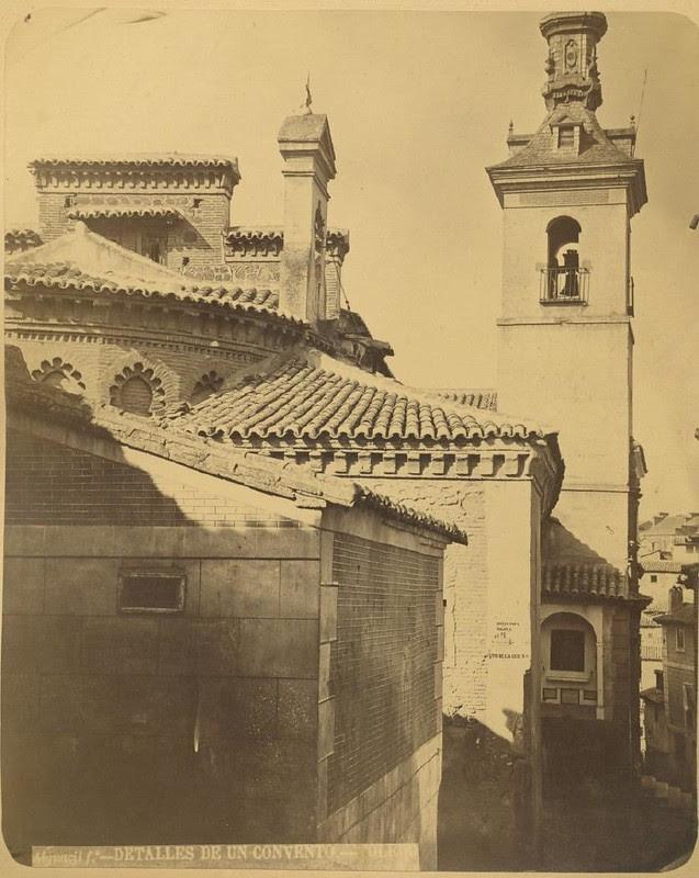 Iglesia de San Justo hacia 1875. Fotografía de Casiano Alguacil © Museo del Traje. Centro de Investigación del Patrimonio Etnológico. Ministerio de Educación, Cultura y Deporte