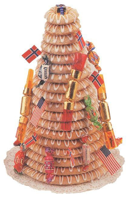 Kransekake Norwegian Wedding Cake   Fante's Kitchen