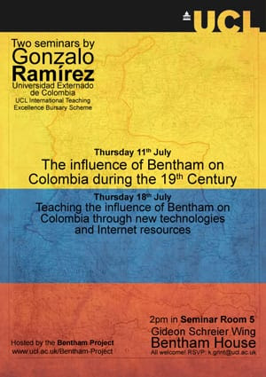 Bentham and Colombia poster