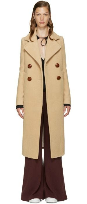 See by Chloé Wool Long Coat