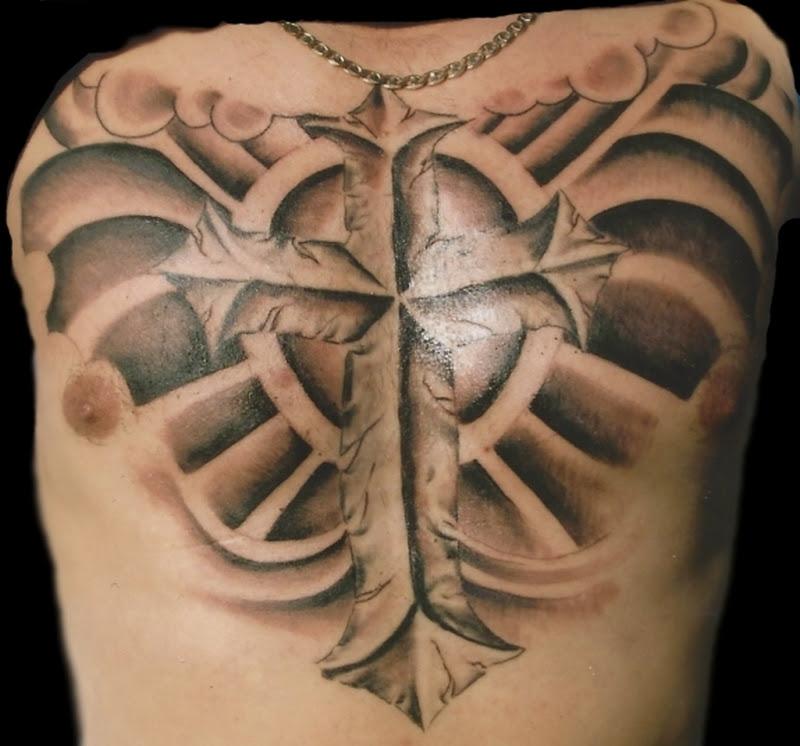 Cross Wings Tattoo On Chest Tattoos Book 65000 Tattoos Designs