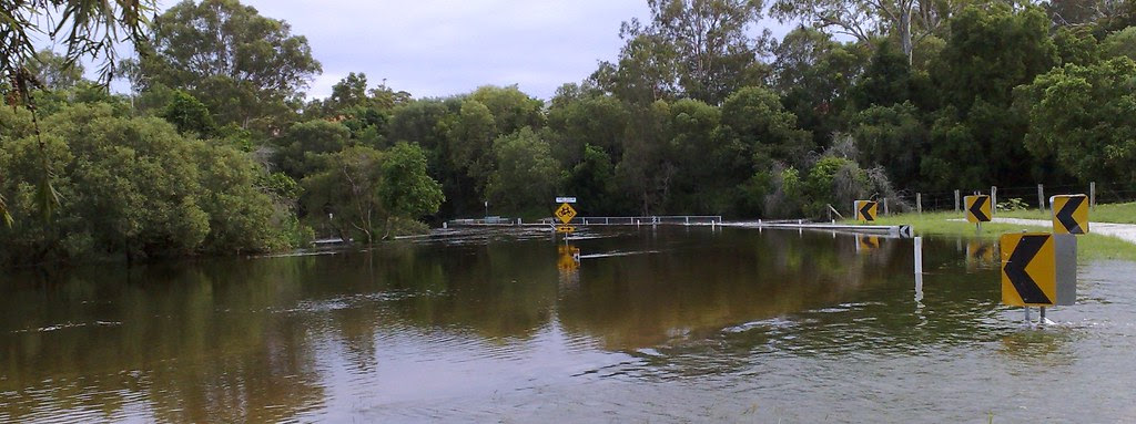 Youngs Crossing in Flood