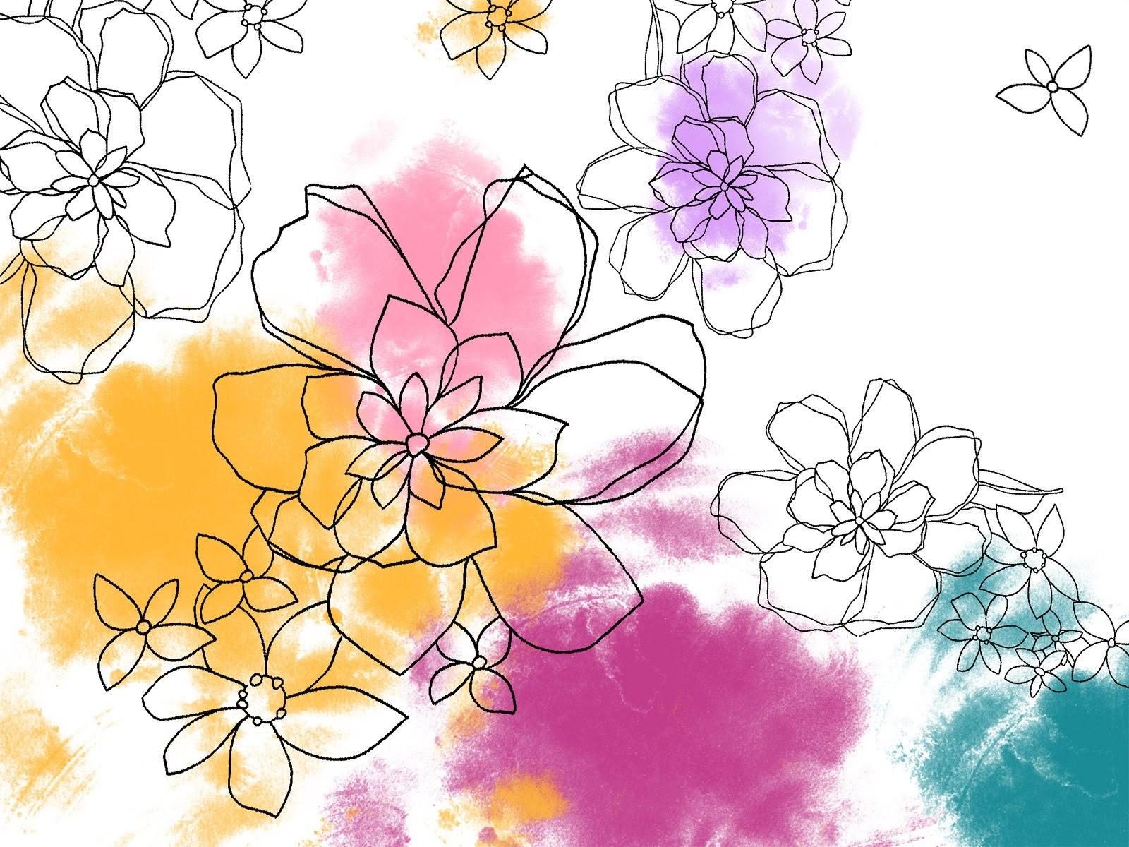 花の壁紙イラストデザイン 5 1600x1200 壁紙ダウンロード 花の壁紙