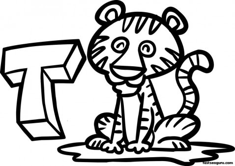 printable tiger coloring pages animal for kids  free